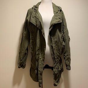 American Eagle oversized olive utility jacket